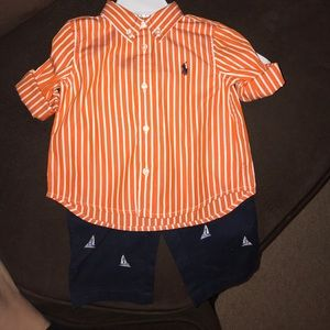 Ralph Lauren Polo outfit new size 6 months
